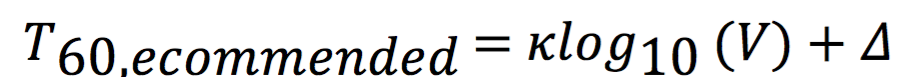 T60 Recommended Equation
